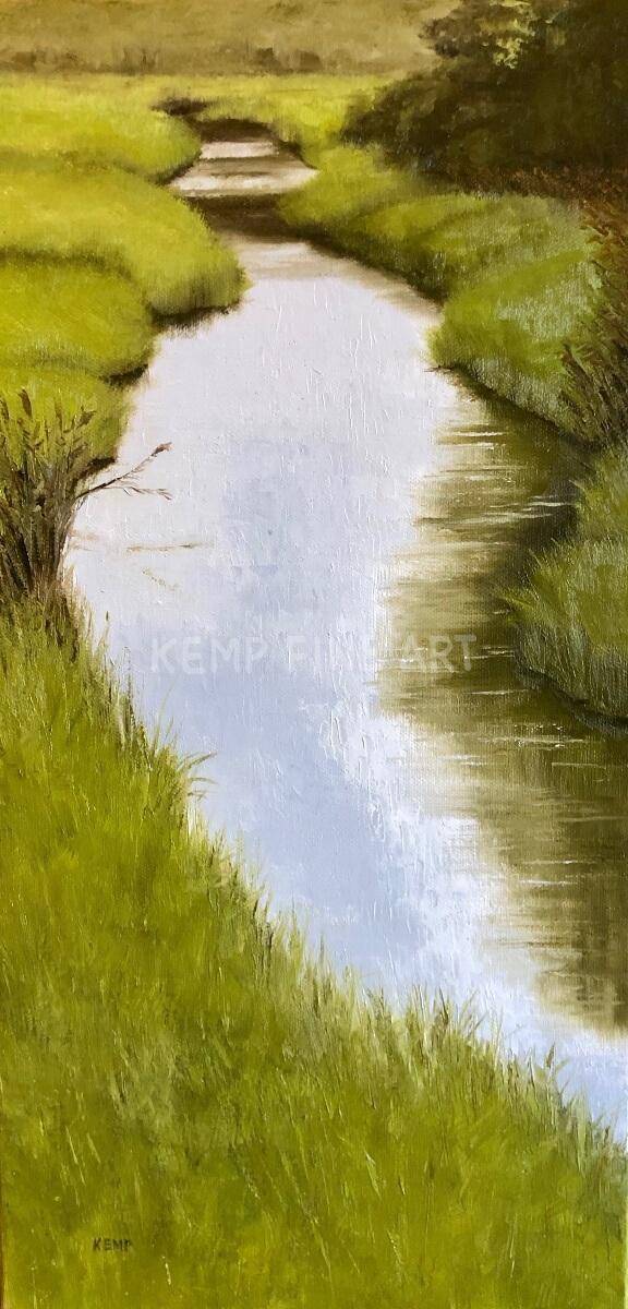 Emerald Marsh | Oil on Canvas - by Jim Kemp