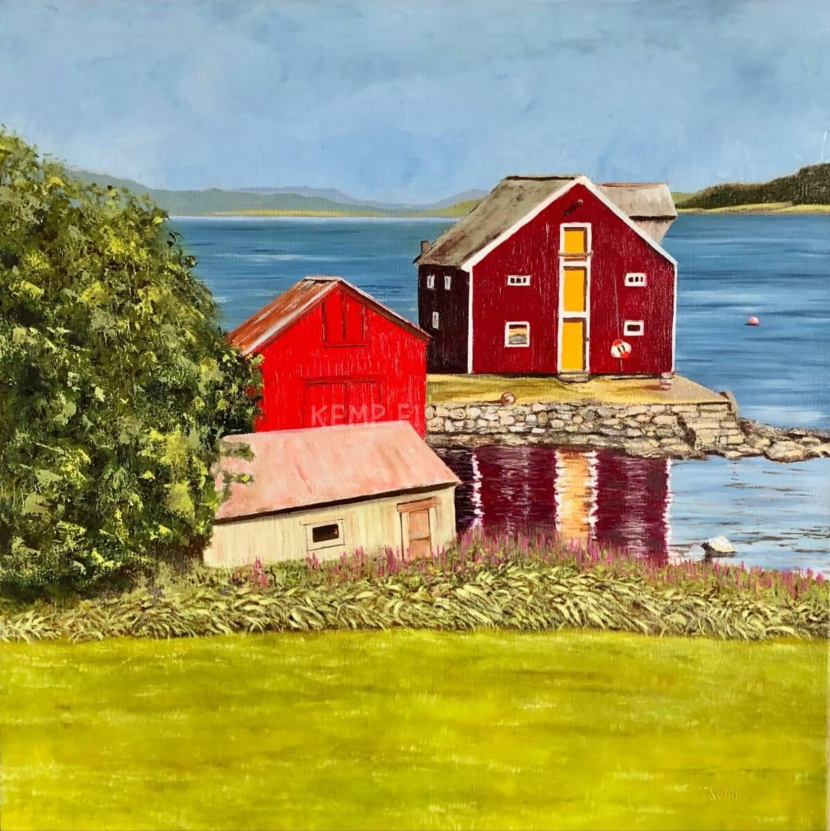 Barns and Boathouses | Oil on Canvas - by Jim Kemp