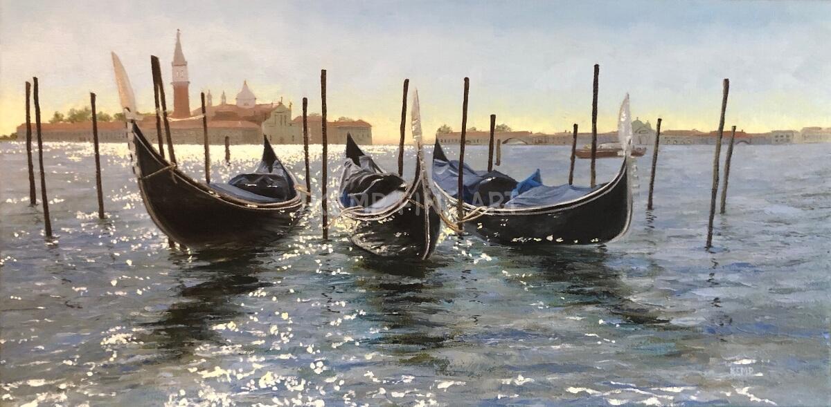 Venice Uber Black | Oil on Canvas - by Jim Kemp