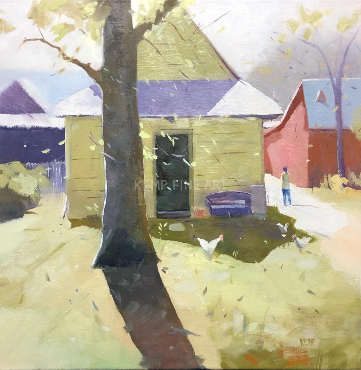 Study (Establishing Value & Edges) | Oil on Canvas - by Jim Kemp
