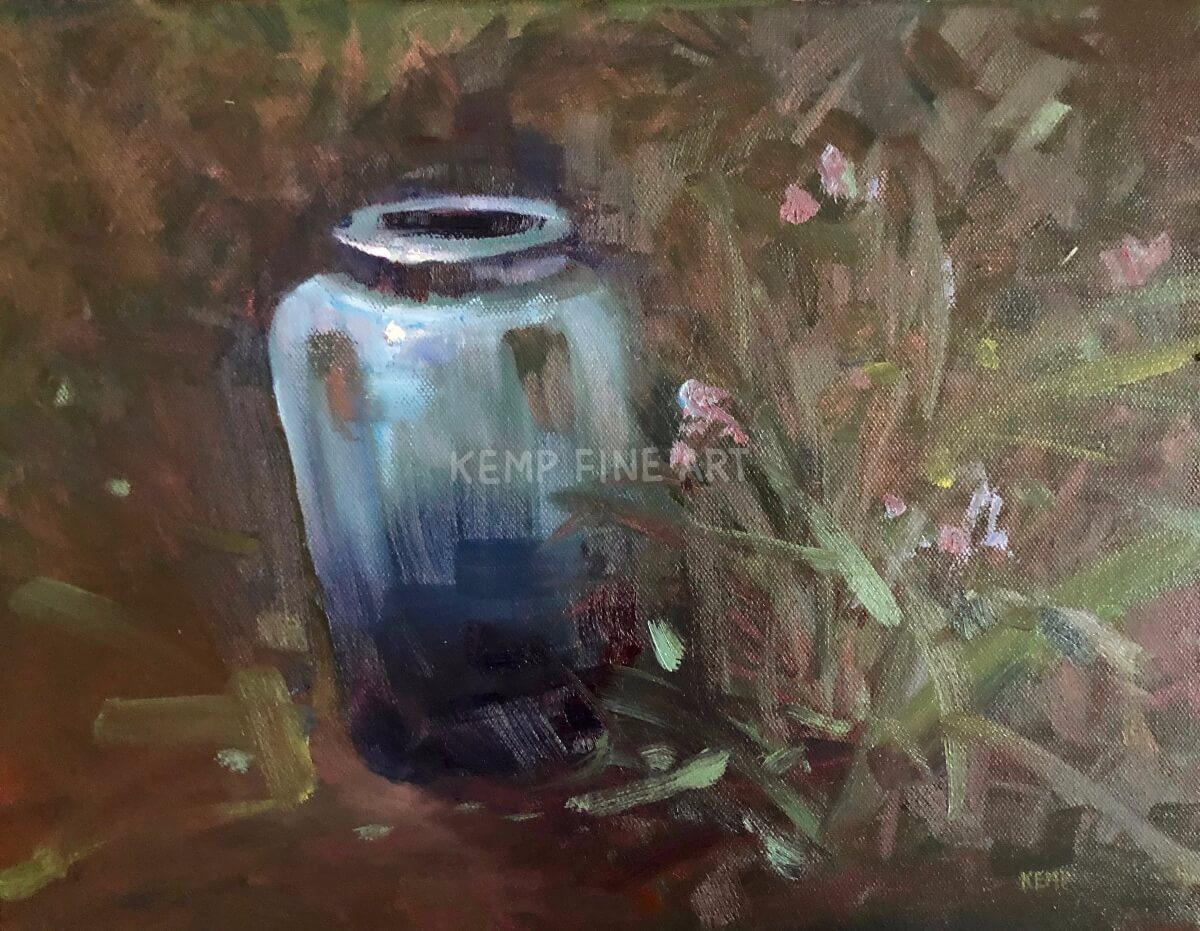 Blue Vahz | Oil on Canvas - by Jim Kemp