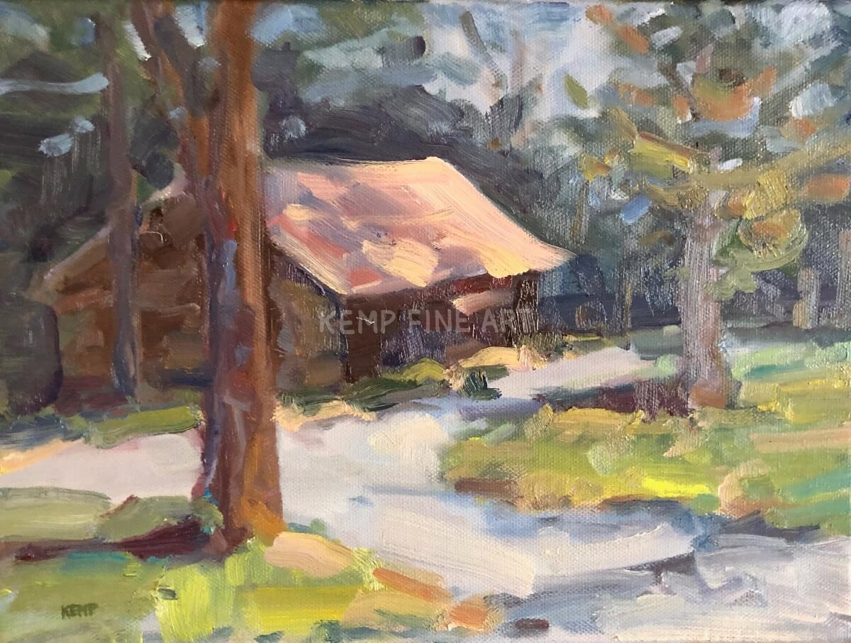 Cottage of Art | Oil on Canvas - by Jim Kemp