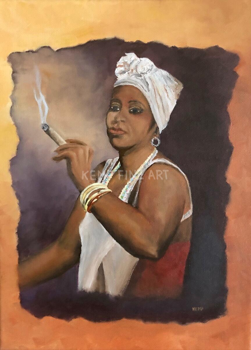 Cigar | Oil on Canvas - by Jim Kemp