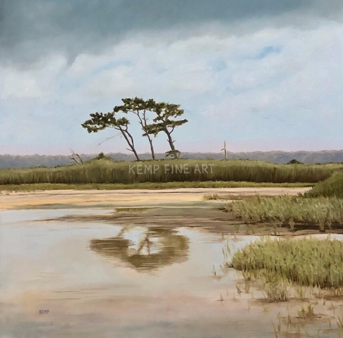 Leaning Left | Oil on Canvas - by Jim Kemp