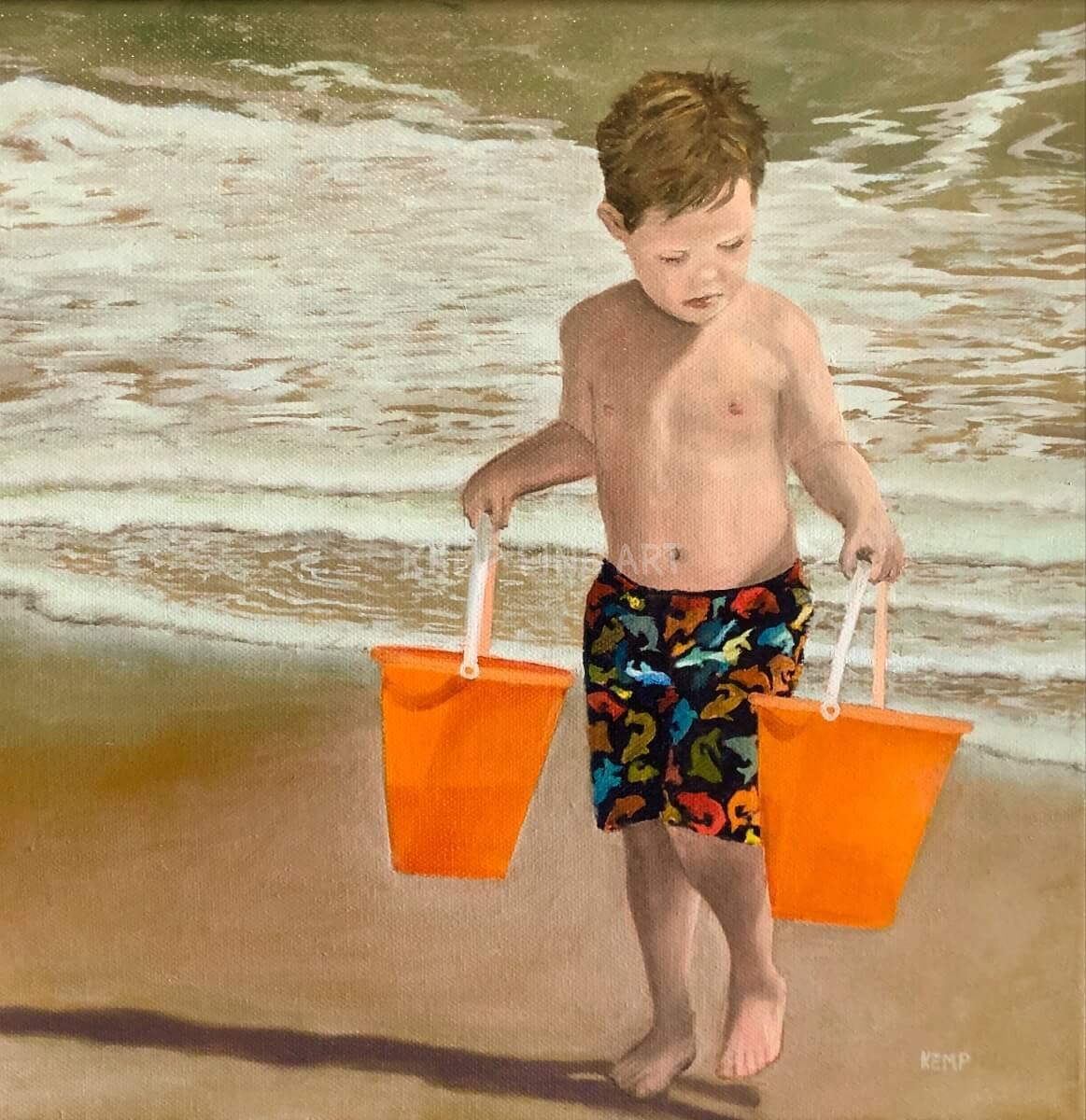 Sharks! | Oil on Canvas - by Jim Kemp