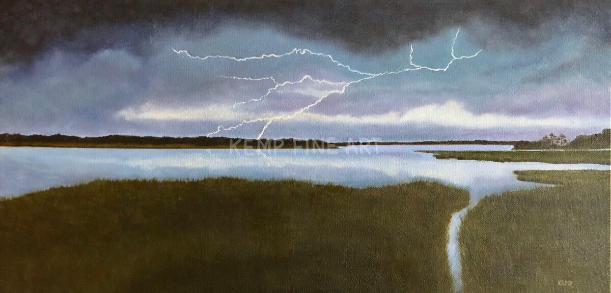 Marsh Storm | Oil on Canvas - by Jim Kemp
