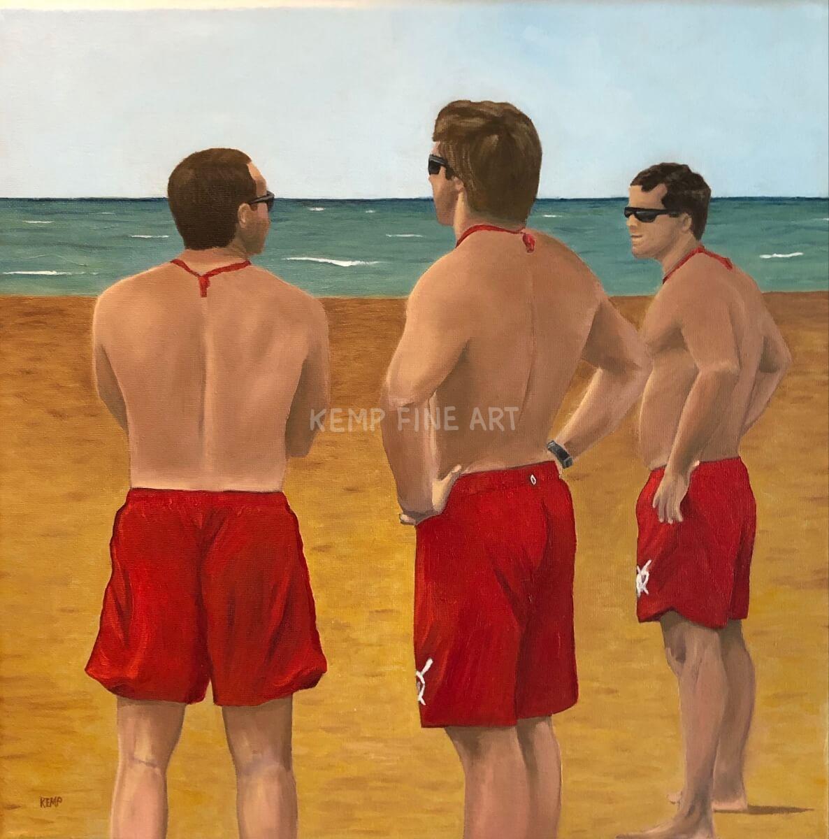 Beach Heroes | Oil on Canvas - by Jim Kemp