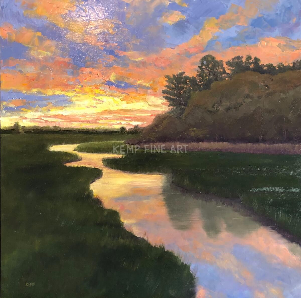 Later Summer Sunset | Oil on Canvas - by Jim Kemp