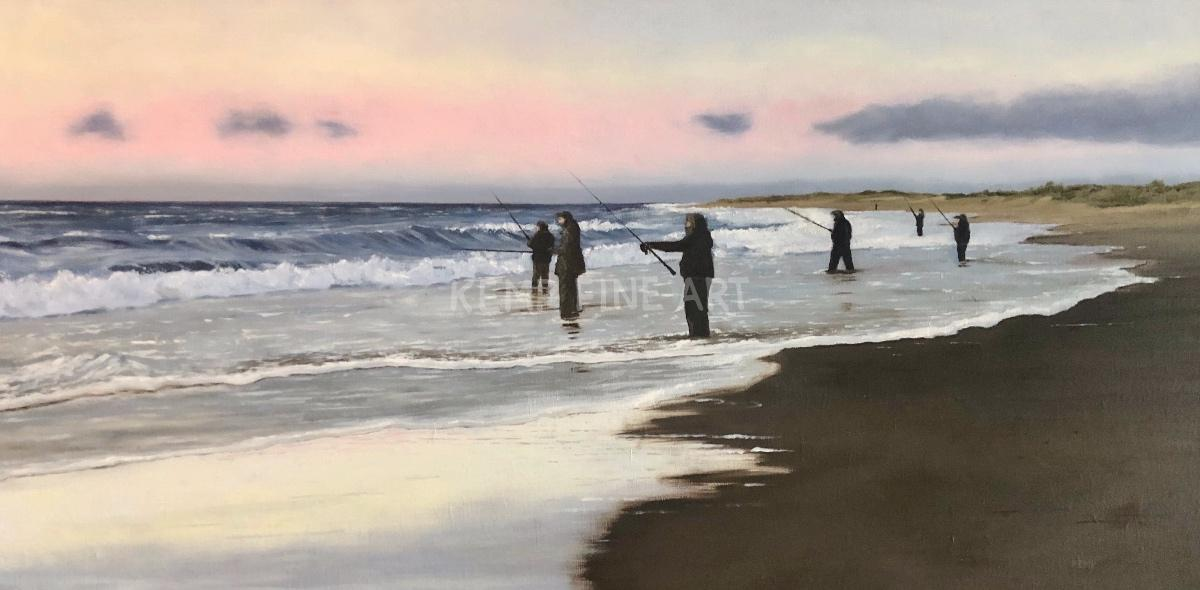 Early Morning Cast | Oil on Canvas - by Jim Kemp