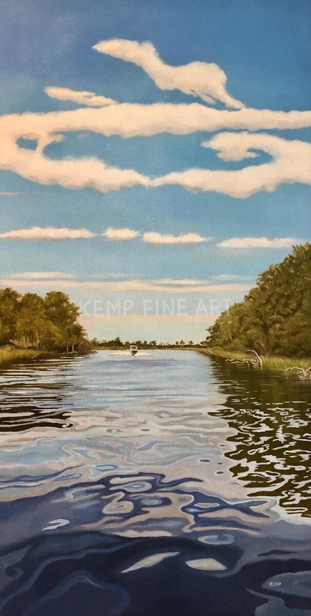 Dreamy Canal Cruise | Oil on Canvas - by Jim Kemp