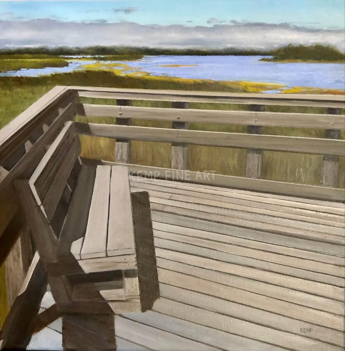 Save Me A Seat   Oil on Canvas - by Jim Kemp