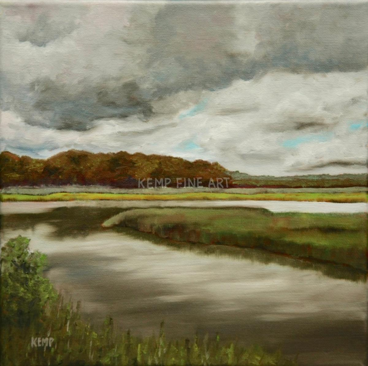 Behind Canal Pointe | Oil on Canvas - by Jim Kemp
