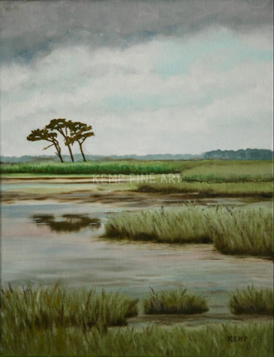 Three Amigos on Gordons Pond | Oil on Canvas - by Jim Kemp
