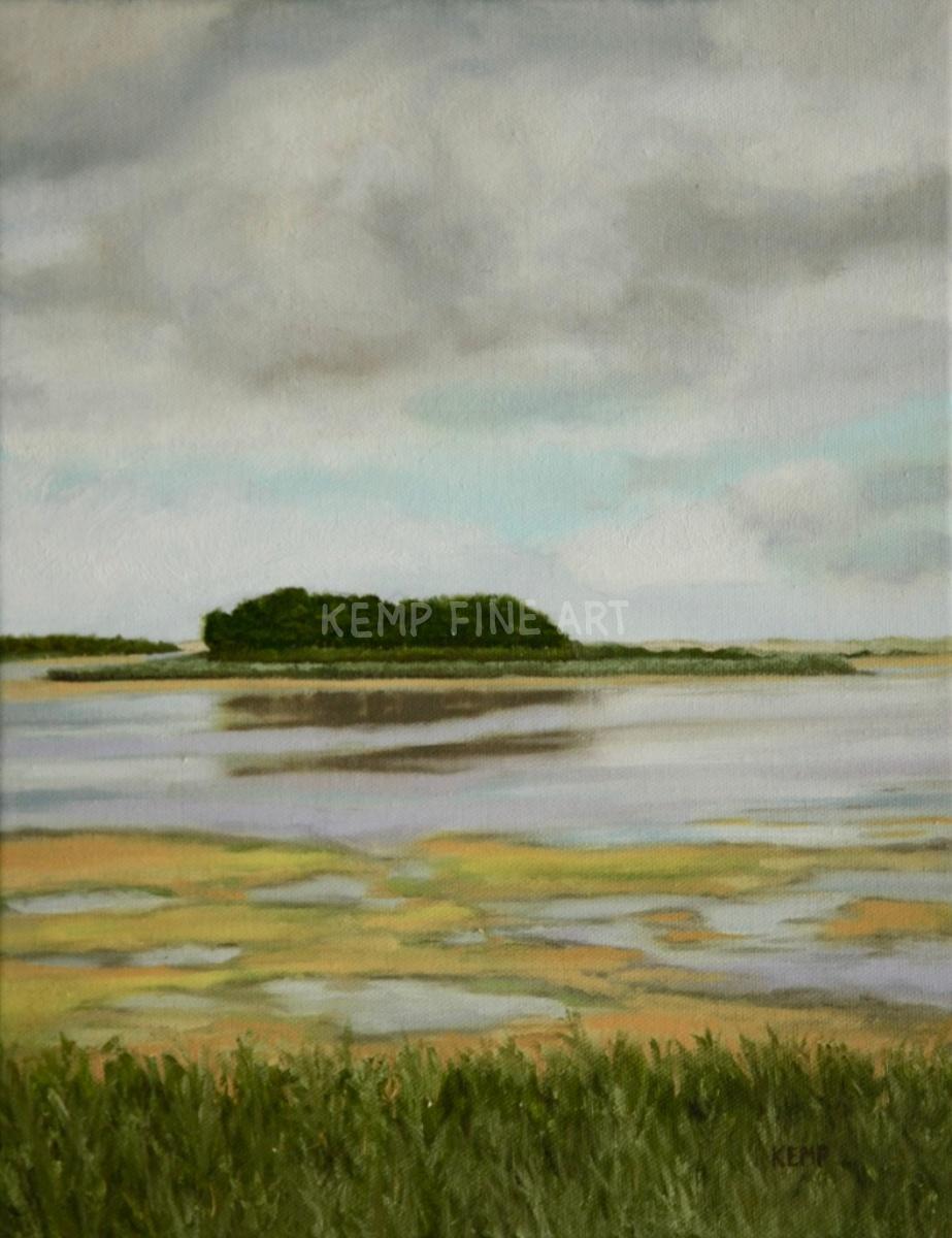 Island on Gordons Pond | Oil on Canvas - by Jim Kemp