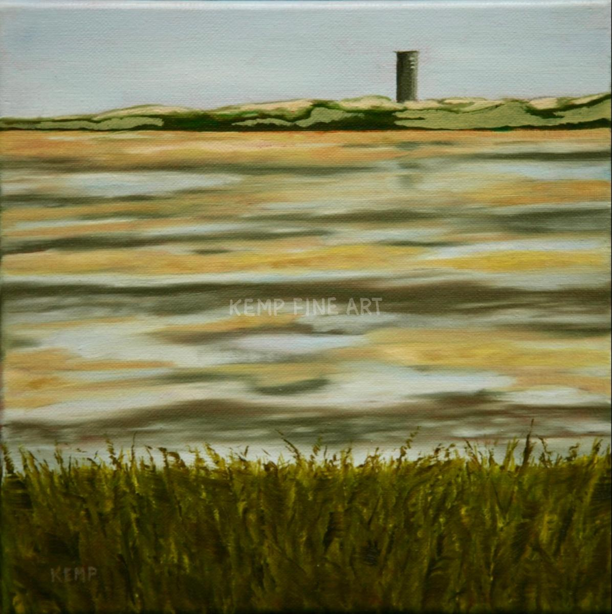 Tower at Gordons Pond | Oil on Canvas - by Jim Kemp
