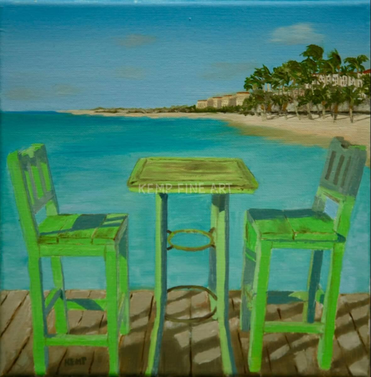 Two Tickets to Paradise | Oil on Canvas - by Jim Kemp