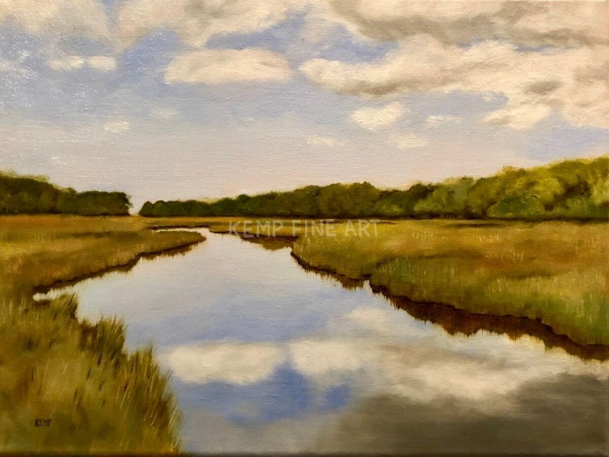 Breakwater Blue | Oil on Canvas - by Jim Kemp