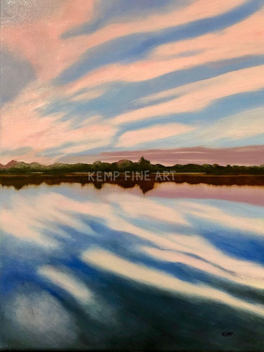 Rehoboth Bay Sunset | Oil on Canvas - by Jim Kemp