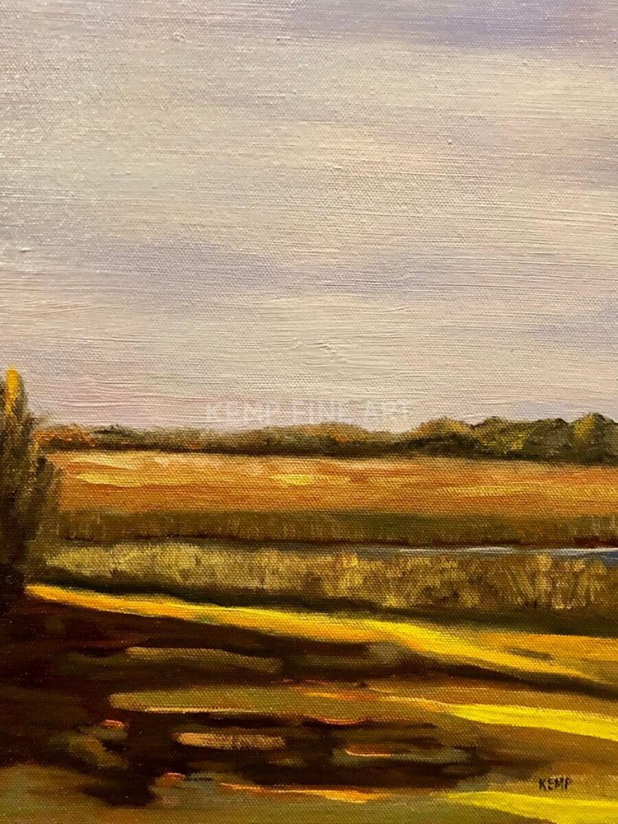 Long Shadows in Henlopen | Oil on Canvas Board - by Jim Kemp