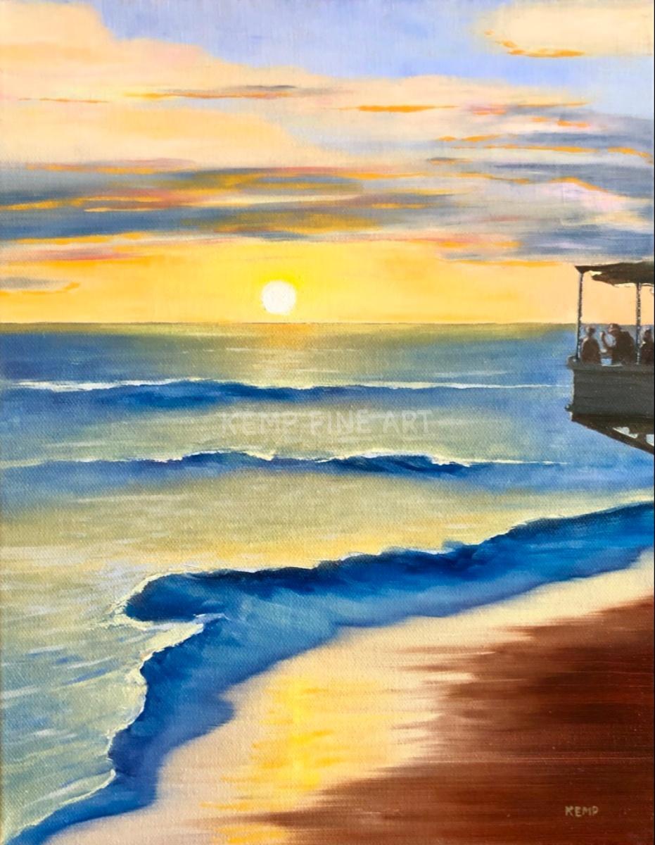 Lahaina Sunset | Oil on Canvas - by Jim Kemp