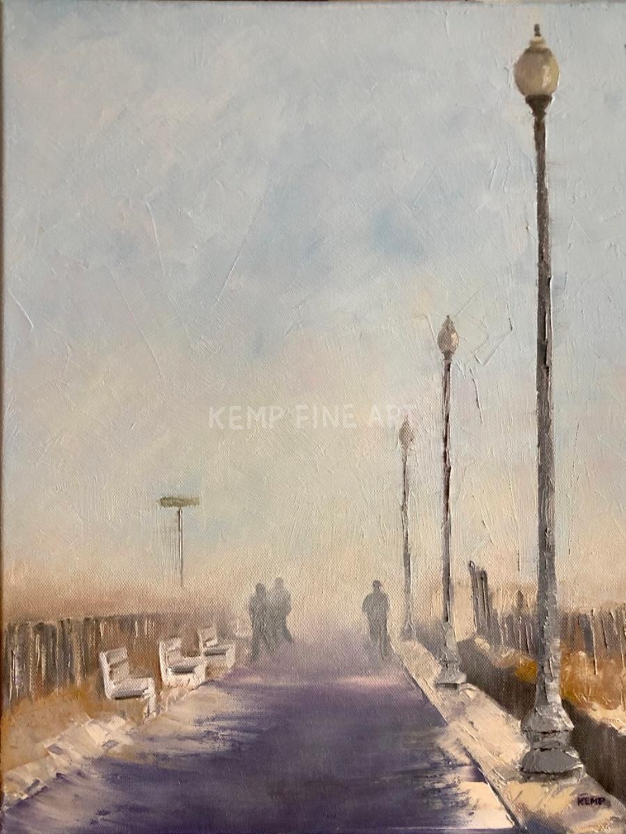 Misty Boardwalk Run | Oil on Canvas - by Jim Kemp