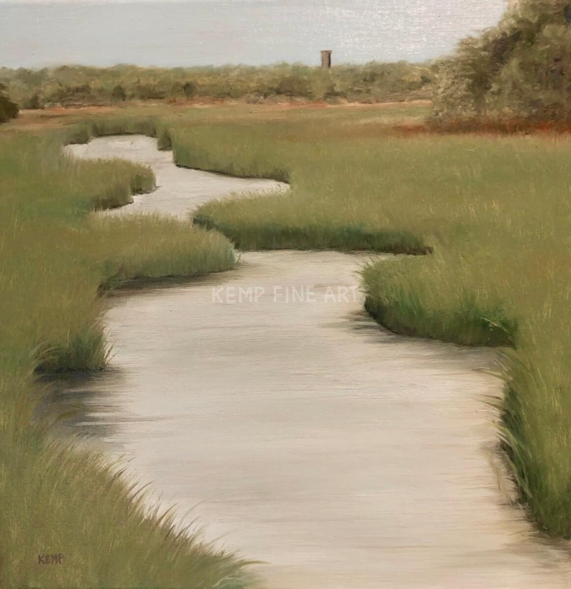 Meandering Marsh | Oil on Canvas - by Jim Kemp