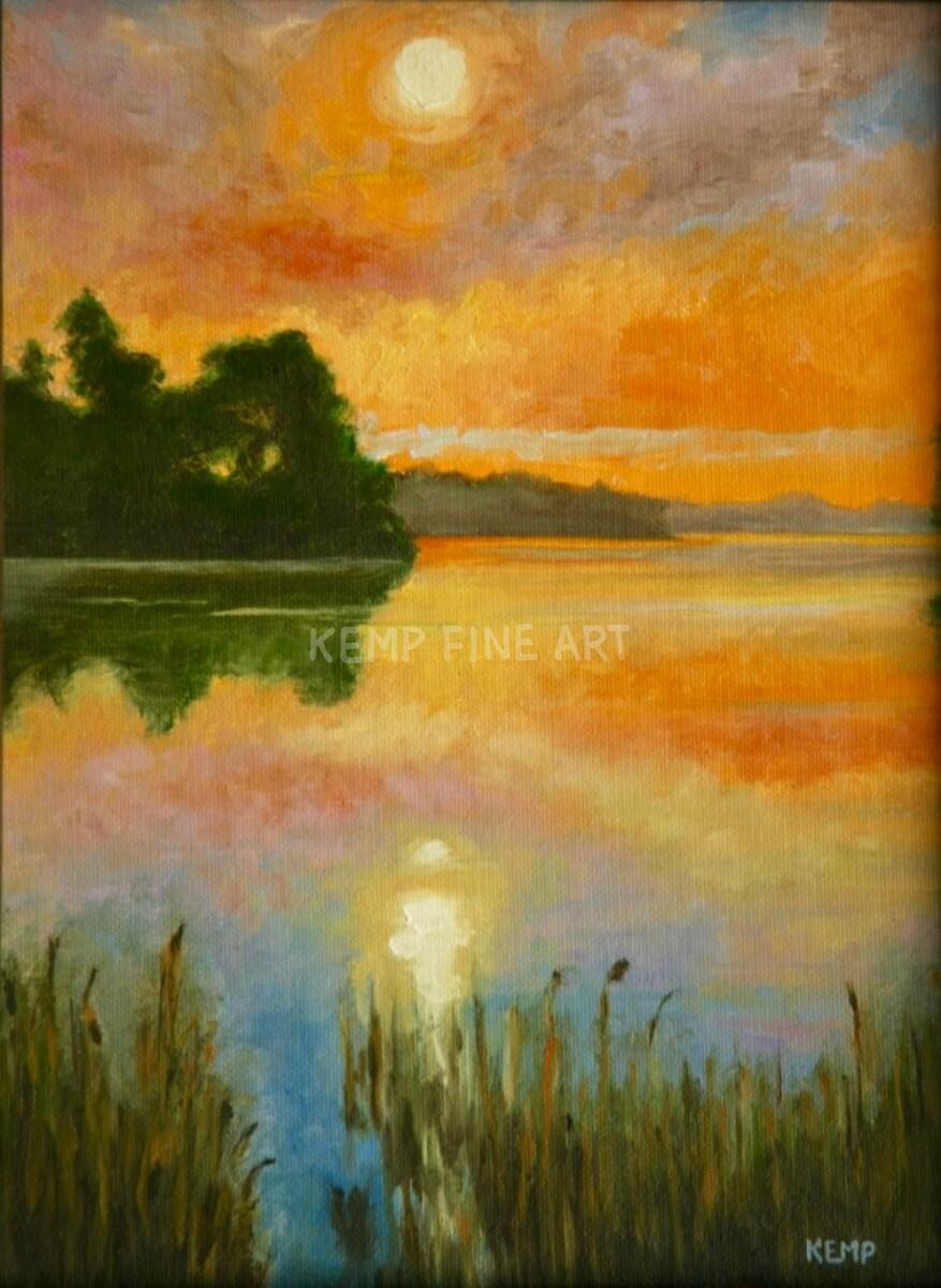 Glebe Creek Sunrise | Oil on Canvas - by Jim Kemp