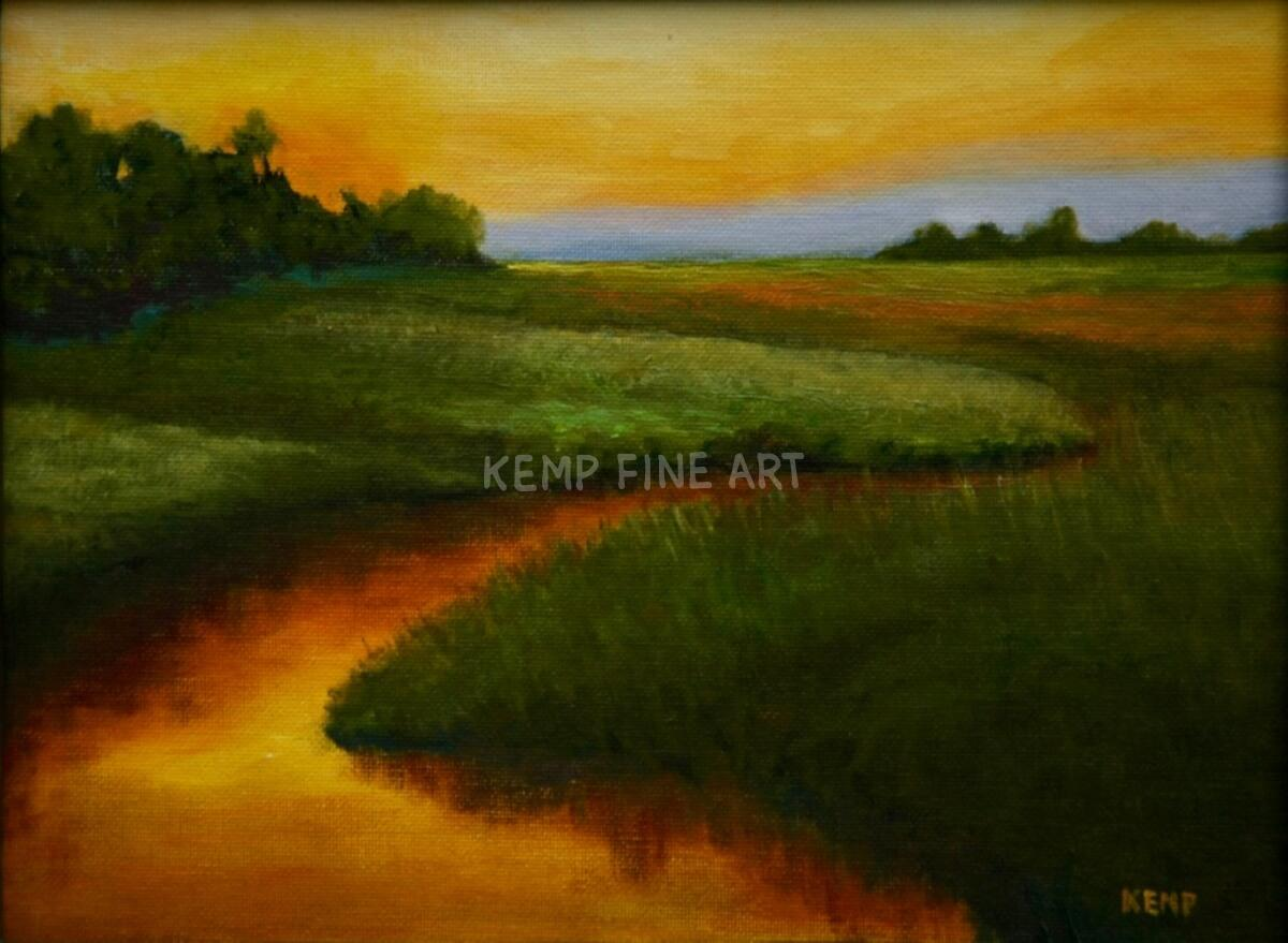 Miles River Marsh | Oil on Canvas - by Jim Kemp