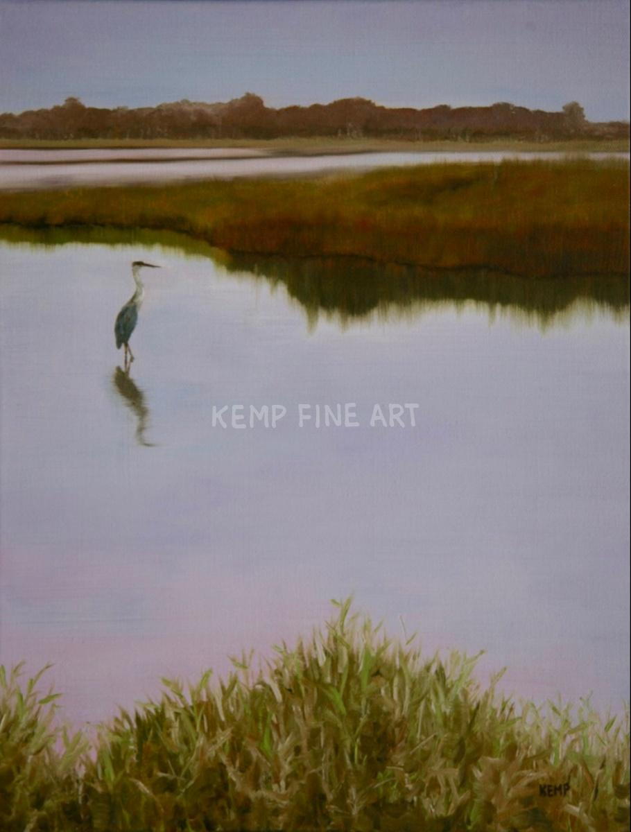 Standing Still - Prime Hook | Oil on Canvas - by Jim Kemp