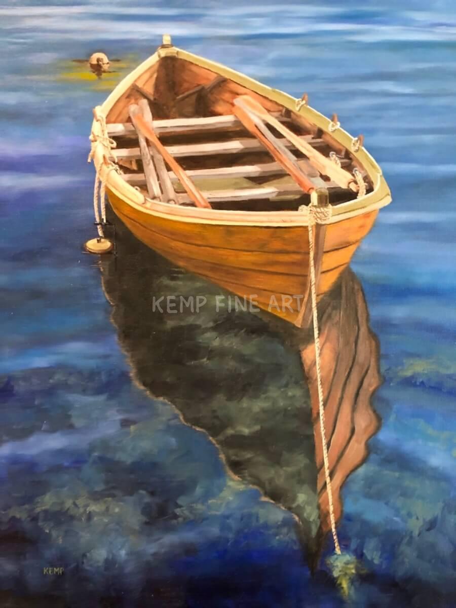 Alesund Blues | Oil on Canvas - by Jim Kemp