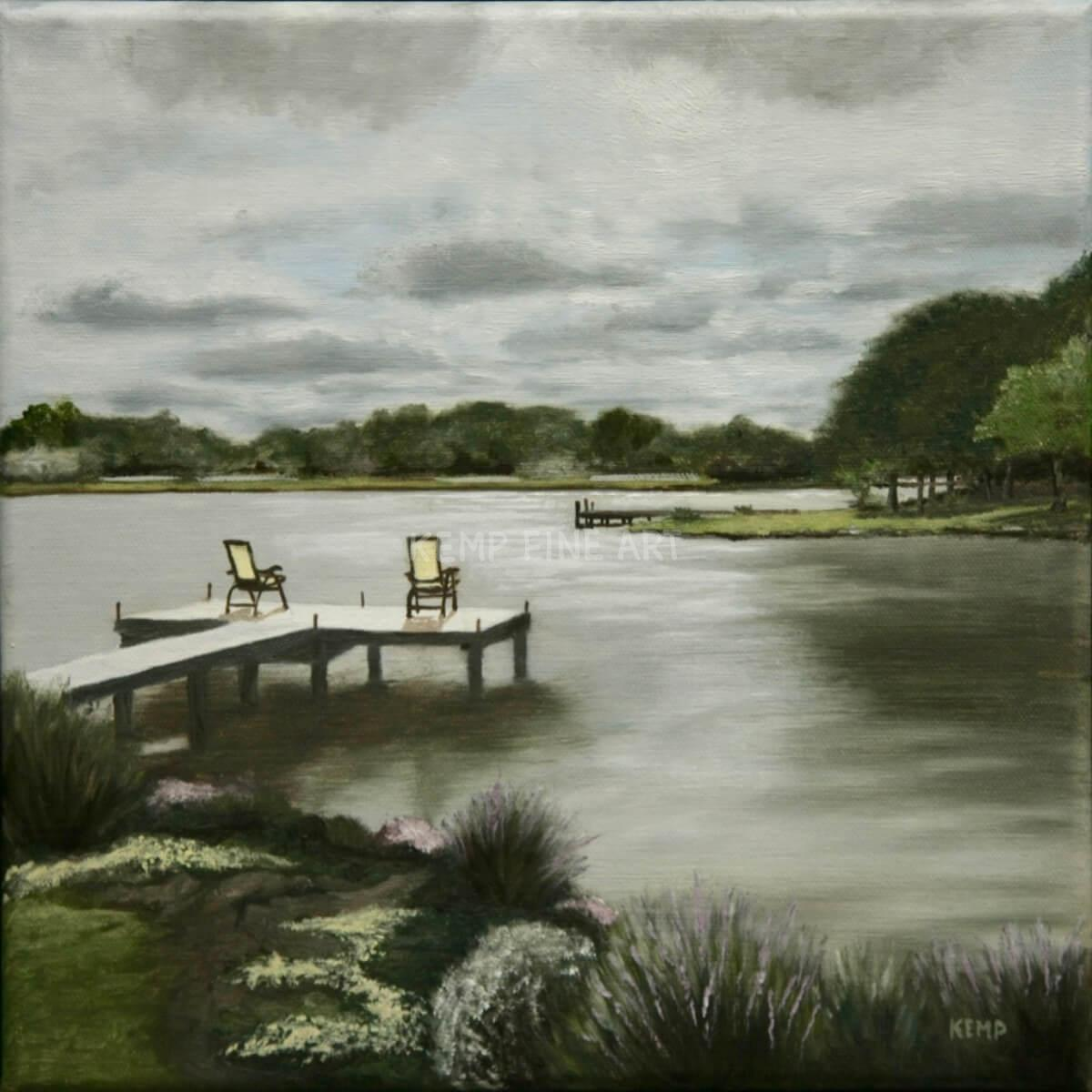 Life on Silver Lake | Oil on Canvas - by Jim Kemp