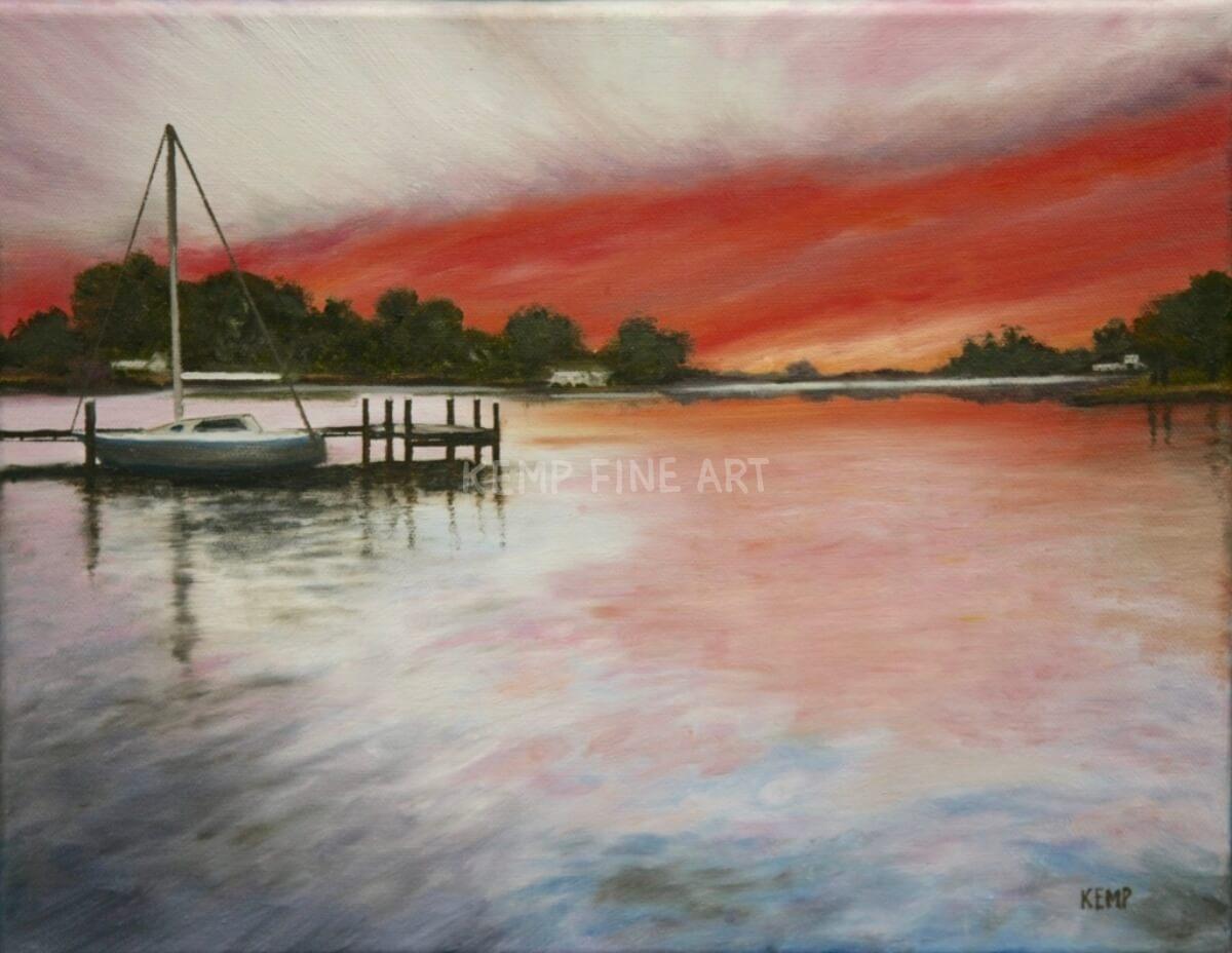 Glebe Creek Morning | Oil on Canvas - by Jim Kemp