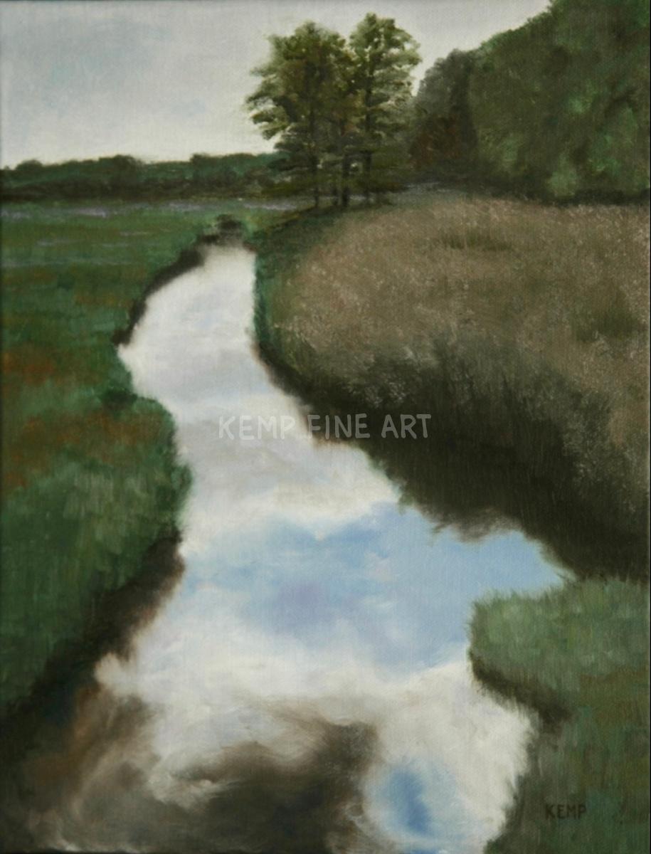Reflection - Junction/Breakwater | Oil on Canvas - by Jim Kemp