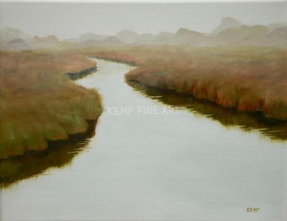 Misty Marsh - Broadkill Beach | Oil on Canvas - by Jim Kemp