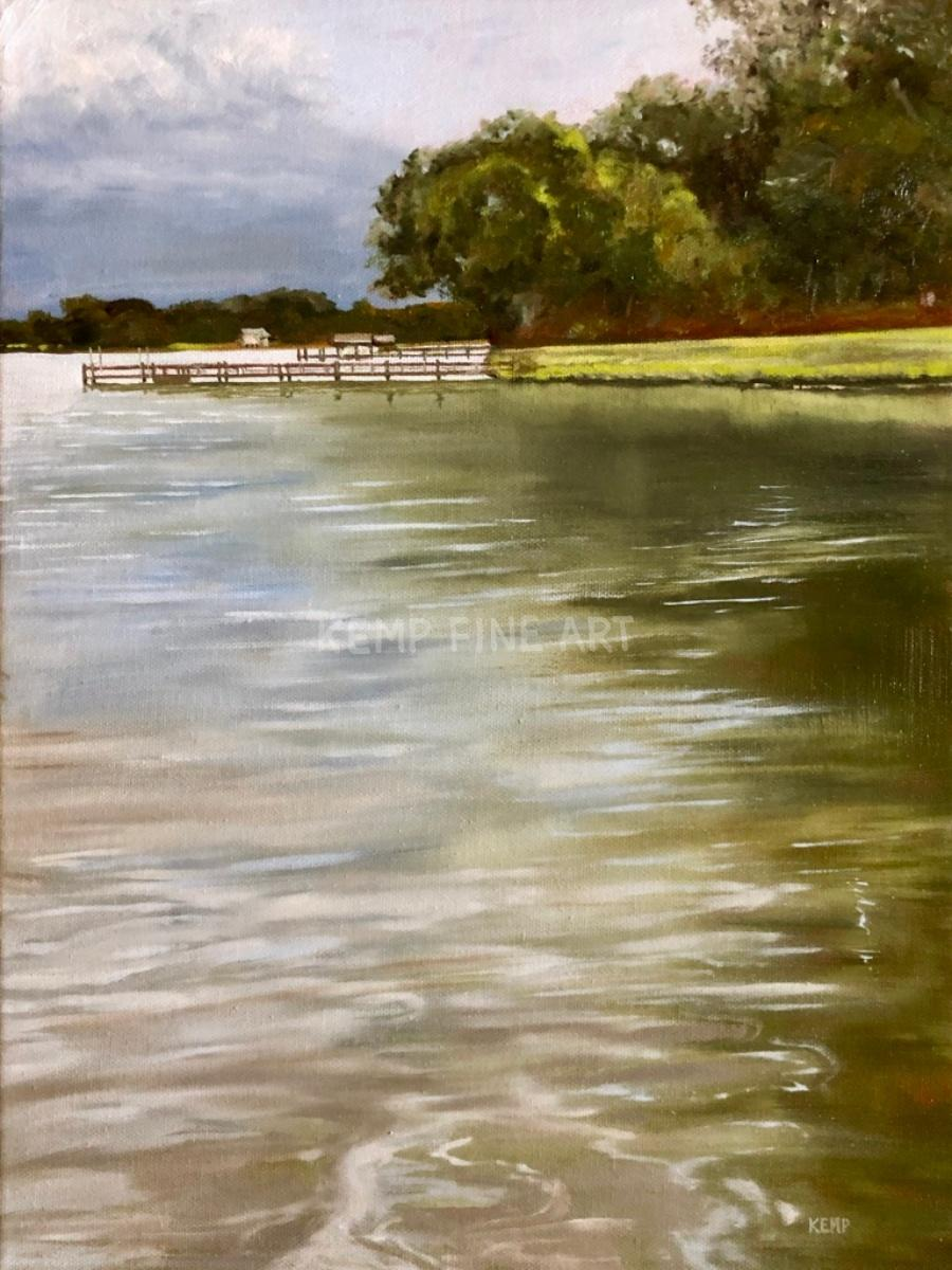 River Storm Ahead | Oil on Canvas - by Jim Kemp