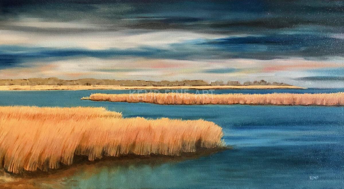 Fall Marsh | Oil on Canvas - by Jim Kemp