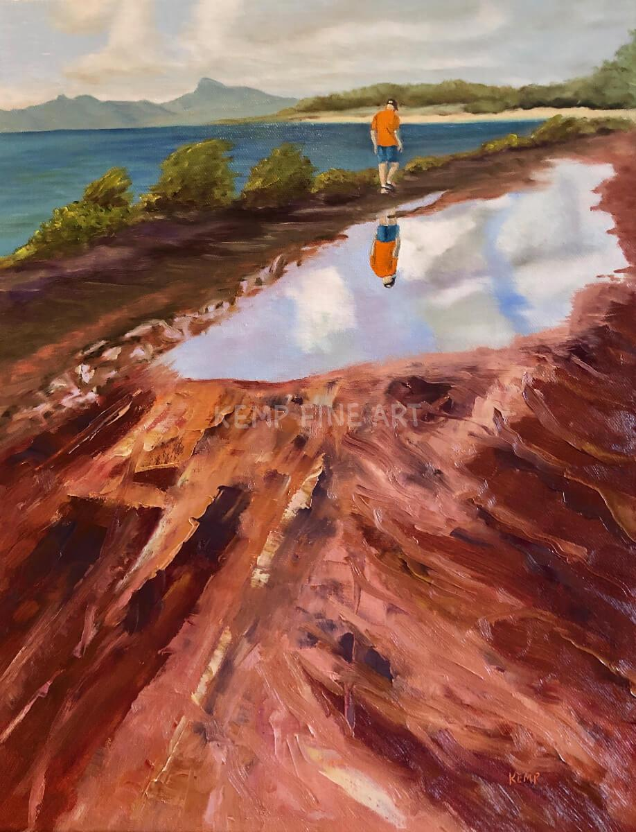 Muddy Morning Kauai Walk | Oil on Canvas - by Jim Kemp