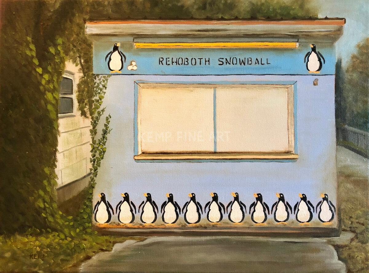 Rehoboth Snowball | Oil on Canvas - by Jim Kemp