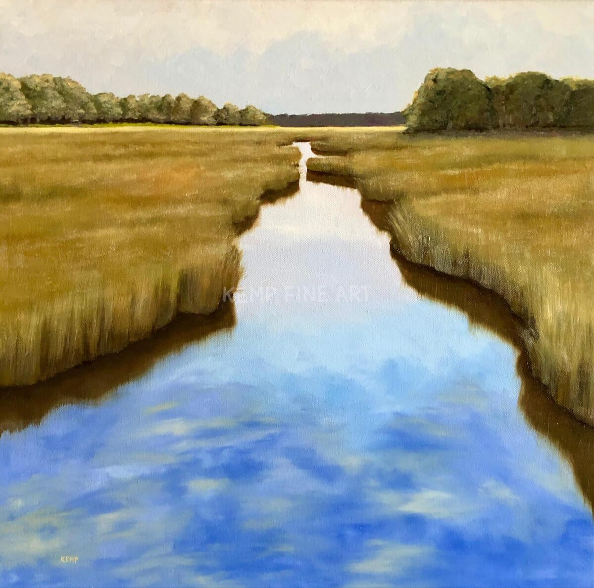Morning Marsh Light | Oil on Canvas - by Jim Kemp