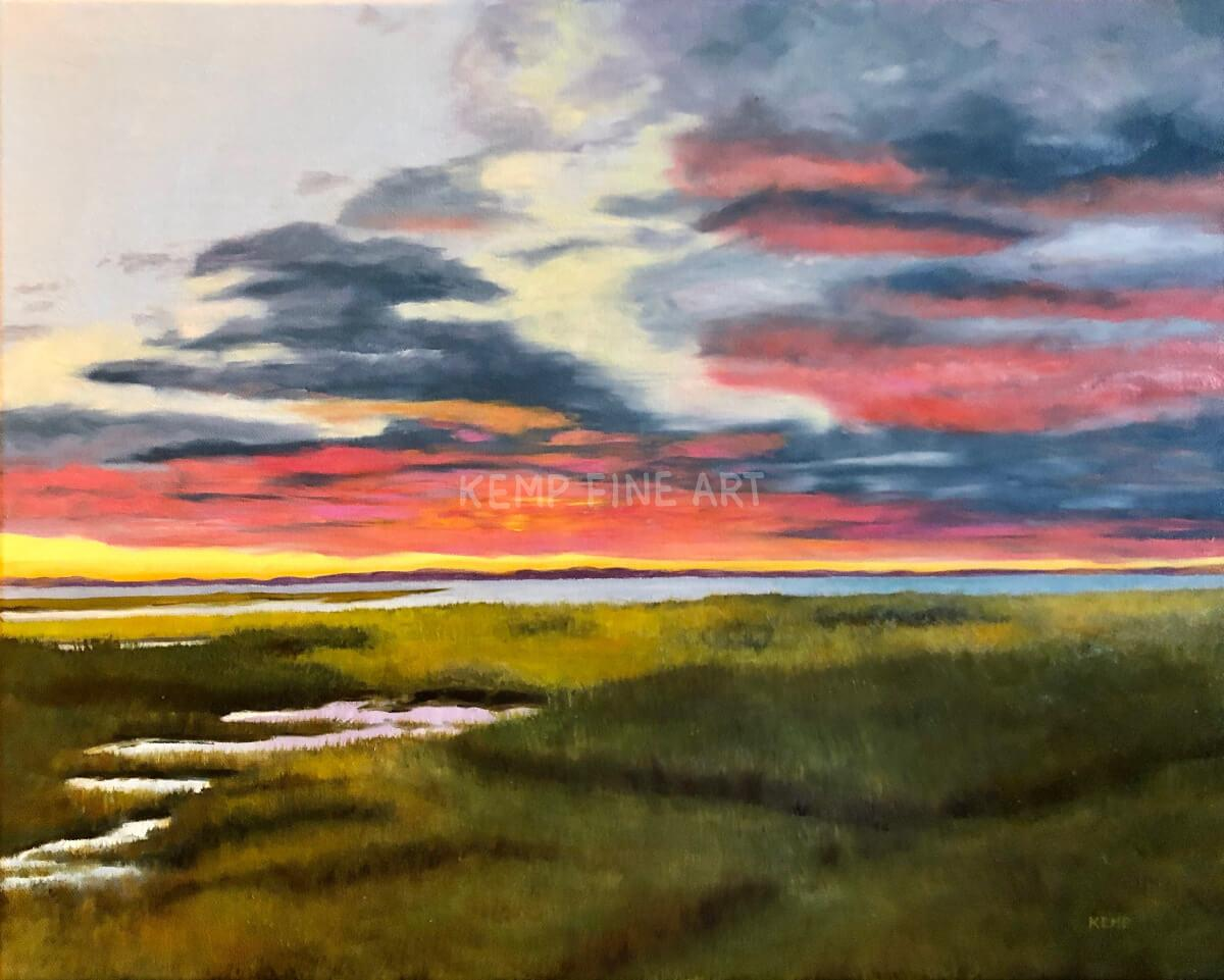 Sunset at The Hobbit | Oil on Canvas - by Jim Kemp