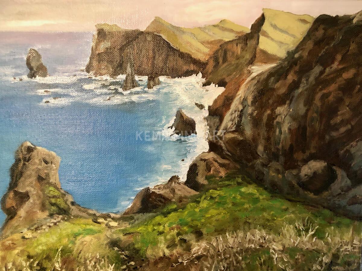 Ponta de Sao Lourenco | Oil on Canvas - by Jim Kemp