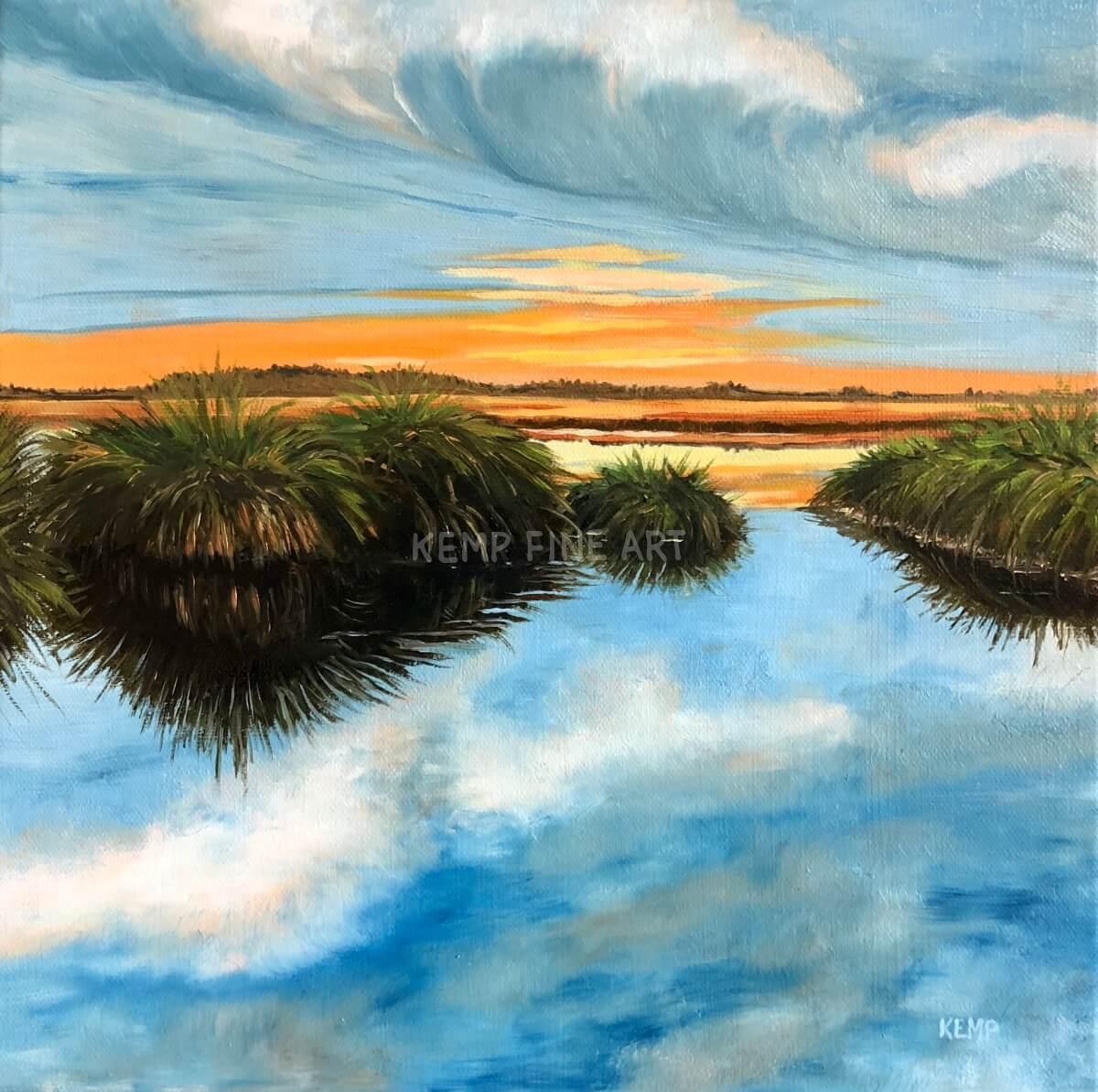 Last Marsh Light | Oil on Canvas - by Jim Kemp