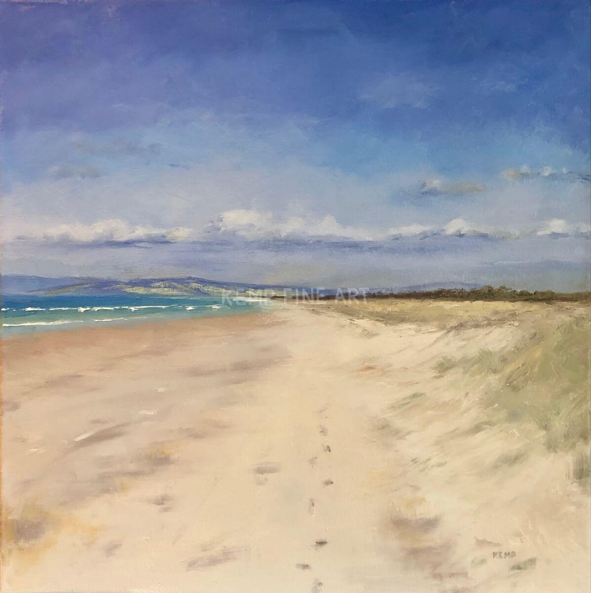 Ruakaka Beach, New Zealand | Oil on Canvas - by Jim Kemp