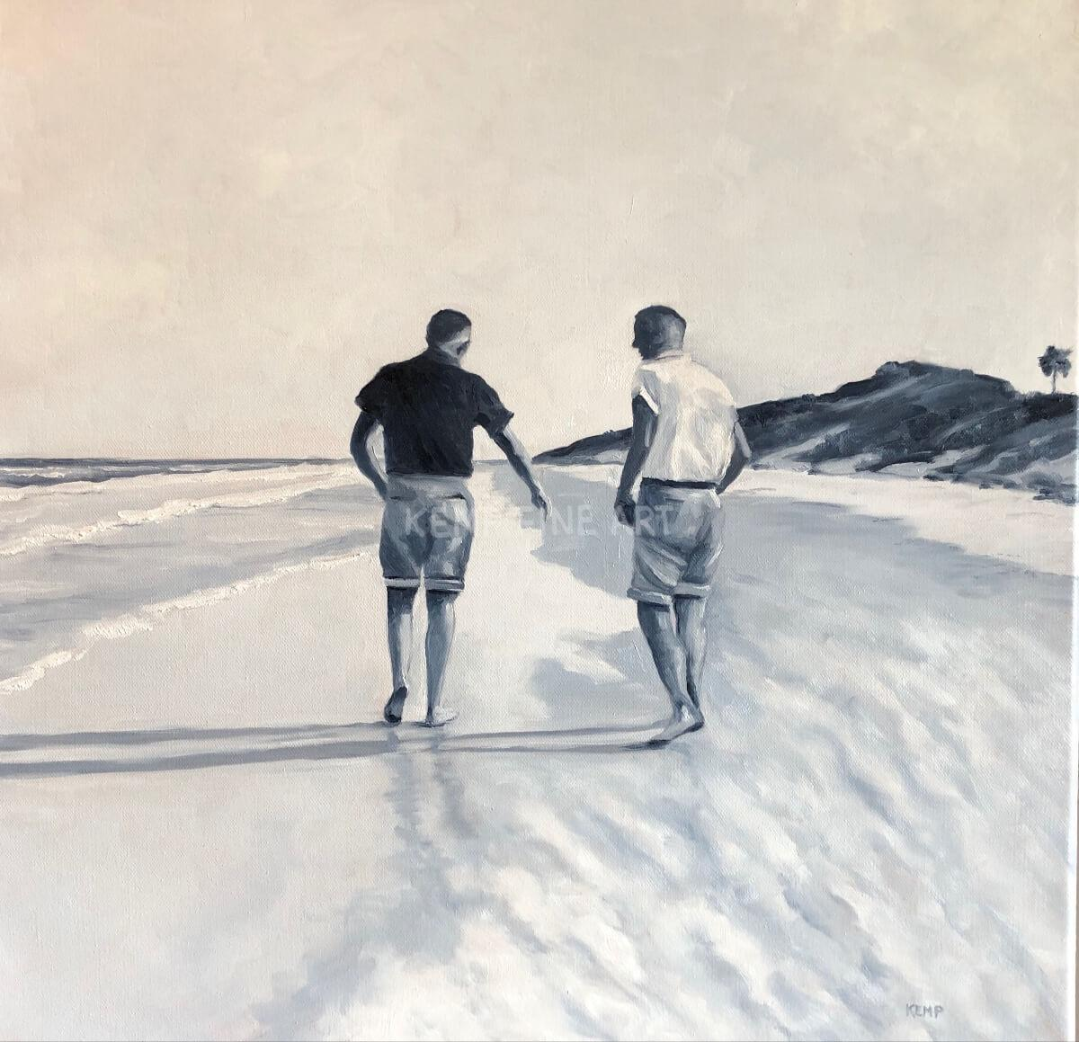 Beach Brothers | Oil on Canvas - by Jim Kemp